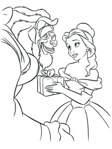 disney beauty and the beast coloring sheets