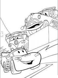 disney cars colouring pages free