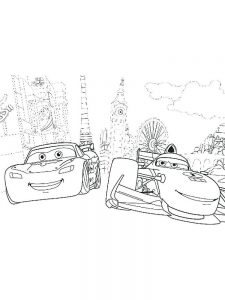 disney cars colouring pages printable