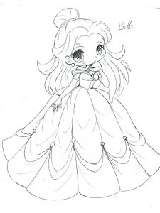 disney chibi coloring pages