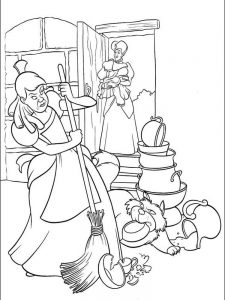 disney cinderella coloring pages free