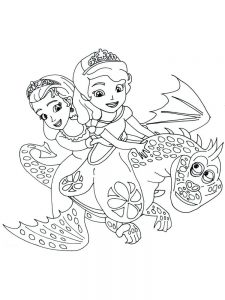 disney coloring pages princess sofia print