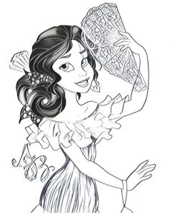 disney elena of avalor coloring page