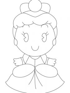 disney princess cuties coloring pages free