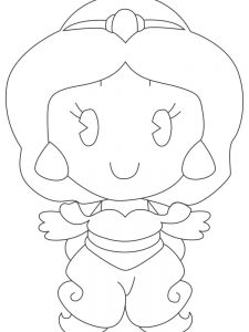disney princess cuties coloring pages image