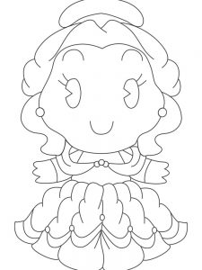 disney princess cuties coloring pages picture