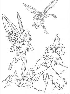 disney tinkerbell coloring pages