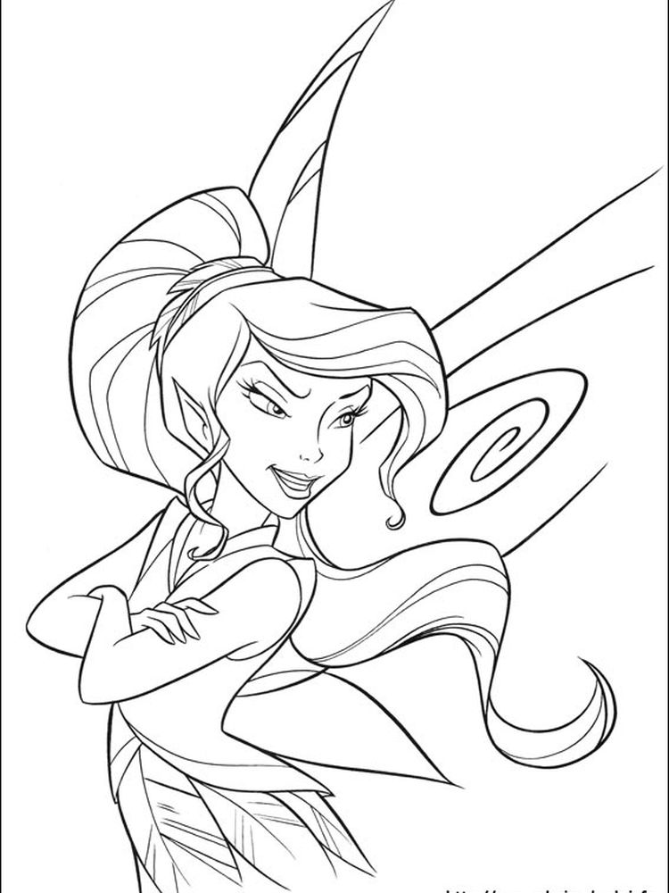 disney tinkerbell coloring pages to print