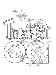 disney tinkerbell fairies coloring pages