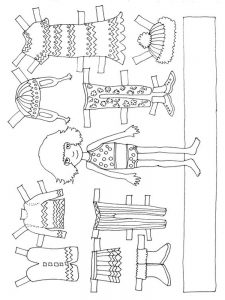 doll coloring pages baby