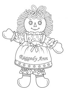 doll coloring pages free