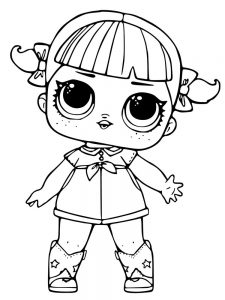 doll coloring pages pdf