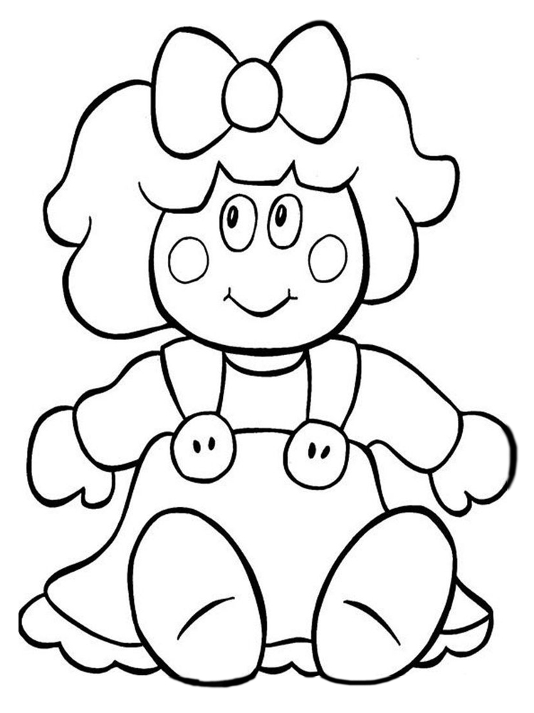 doll coloring pages printable