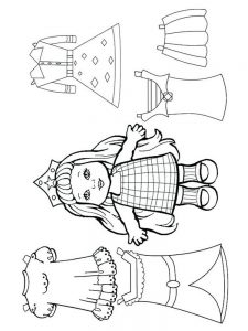 doll colouring pages
