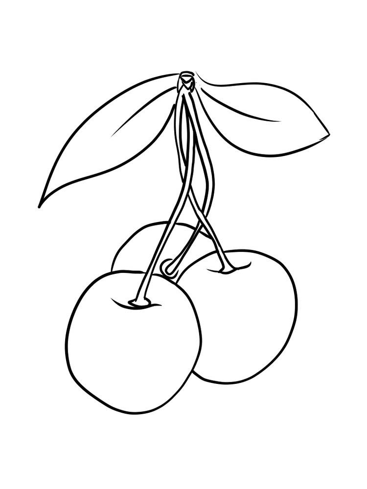 download cherry coloring page free
