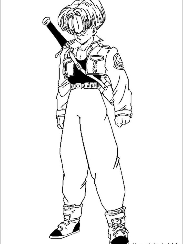 dragon ball z all characters coloring pages