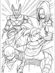 dragon ball z baby coloring pages