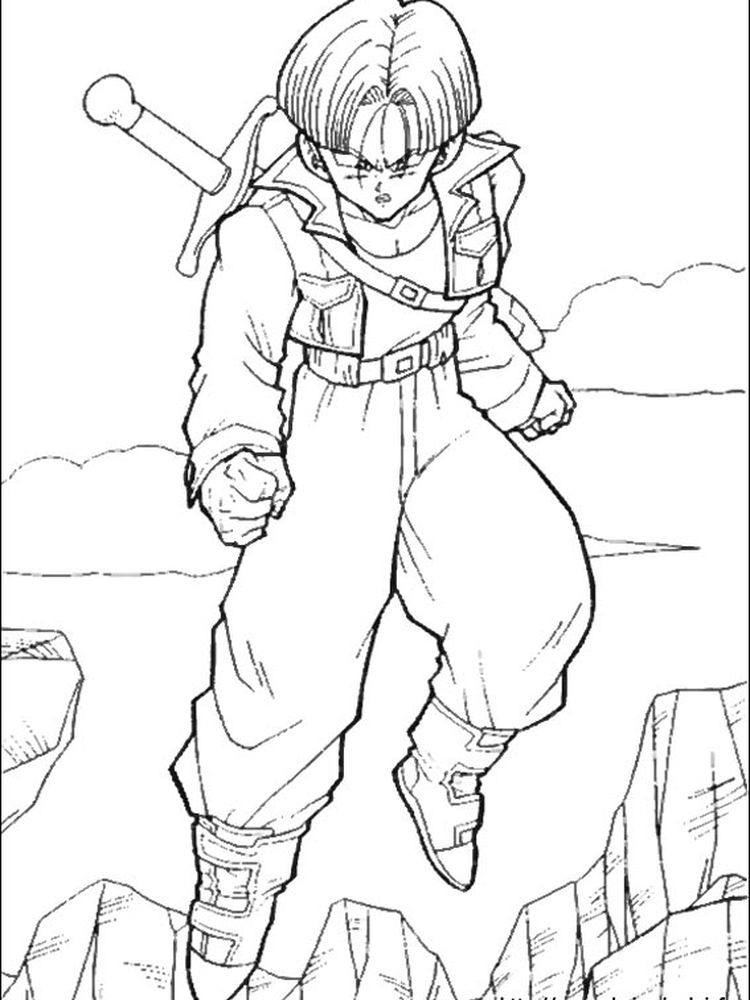 dragon ball z color in pictures