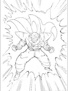 dragon ball z coloring page free