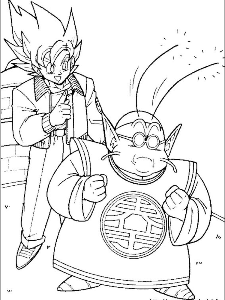 dragon ball z coloring pages free printables