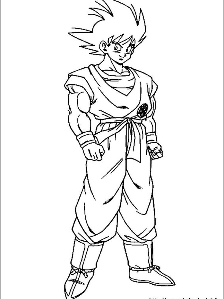 dragon ball z coloring pages gohan