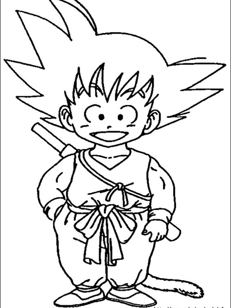 dragon ball z coloring pages goku