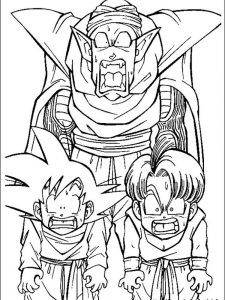 dragon ball z coloring pages piccolo