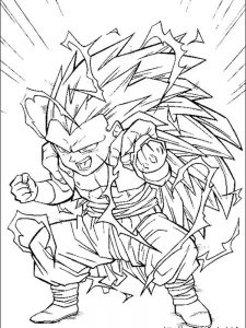 dragon ball z colouring games