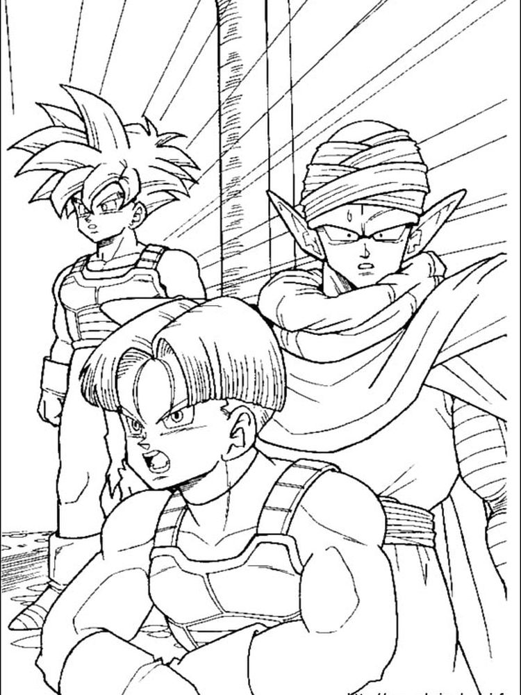 dragon ball z fighting coloring pages