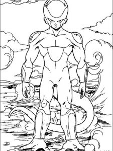 dragon ball z goku black coloring pages