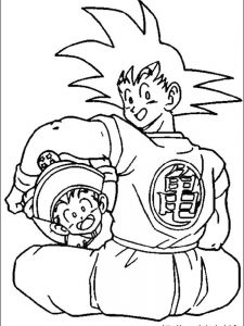 dragon ball z goten coloring pages