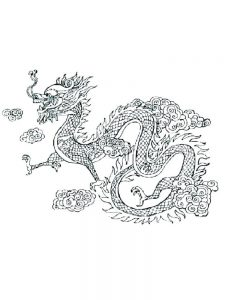dragon coloring page free printable