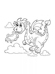 dragon coloring page printable
