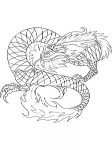 dragon coloring pages online