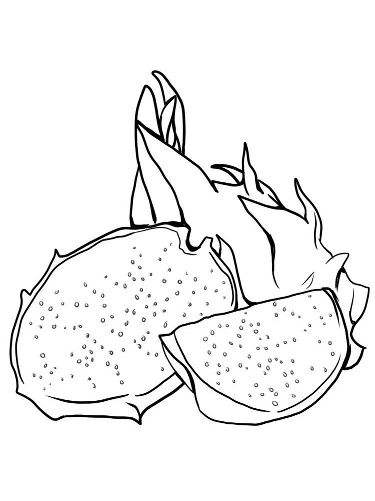 dragonfruit coloring images free