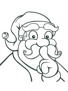 draw a face coloring page