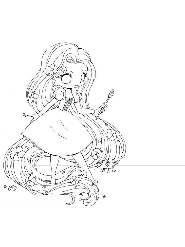 draw so cute girl coloring pages