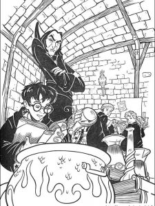 draw so cute harry potter coloring pages