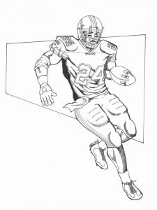 eagles football player coloring page