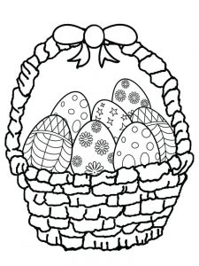 easter basket coloring book pages