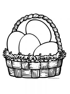 easter basket coloring pages easy