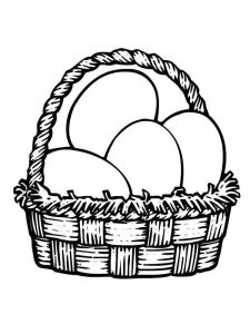 easter basket coloring pages for preschoolers