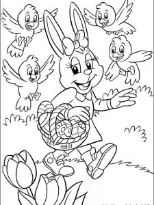 easter coloring pages eggs