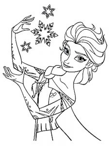 easter frozen coloring page