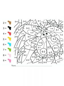 easy addition coloring pages