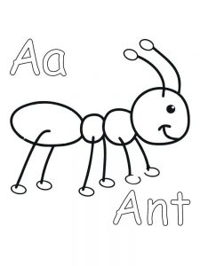 easy ant coloring pages