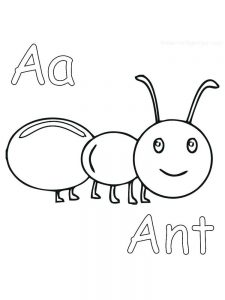 easy coloring pages of ant