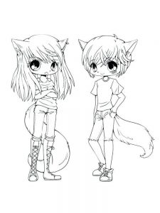 easy free chibi coloring pages