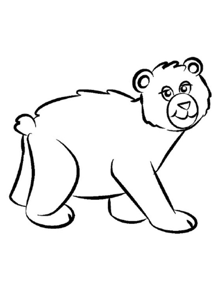 easy polar bear coloring pages