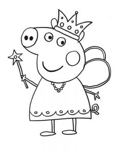 educational peppa pig coloring pages
